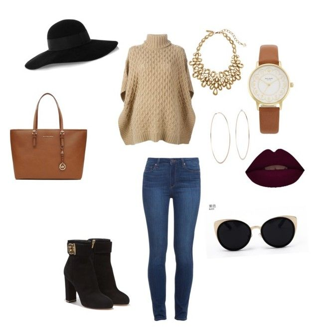 """Ideal fall looks"" by tae-quinshea on Polyvore featuring MICHAEL Michael Kors, Paige Denim, Salvatore Ferragamo, Eugenia Kim, Michael Kors, Oscar de la Renta, Kate Spade and Una-Home"