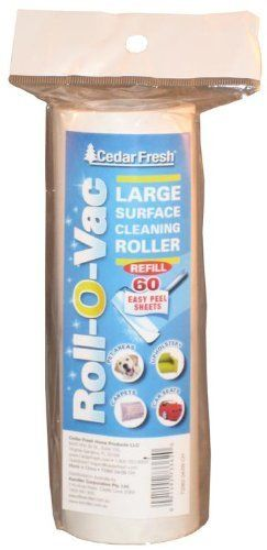 Household Essentials CedarFresh Roll-O-Vac Large Surface Lint Roller Refill, 60 Sheets by Household Essentials. $9.09. Replacement roll for Household Essential Item No.76201 - the 60-sheet Roll-O-Vac Large Surface Lint Roller from CedarFresh Home Products.