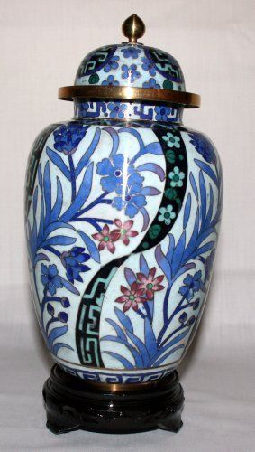 "8"" Beijing Cloisonne Cremation Urn Hong Kong Style Light Blue with Blue Floral and Leaves Design (BCURH2804-003) by bluRAFIA, http://www.amazon.com/dp/B0041C4S2O/ref=cm_sw_r_pi_dp_CWpIpb1A5EVP1"