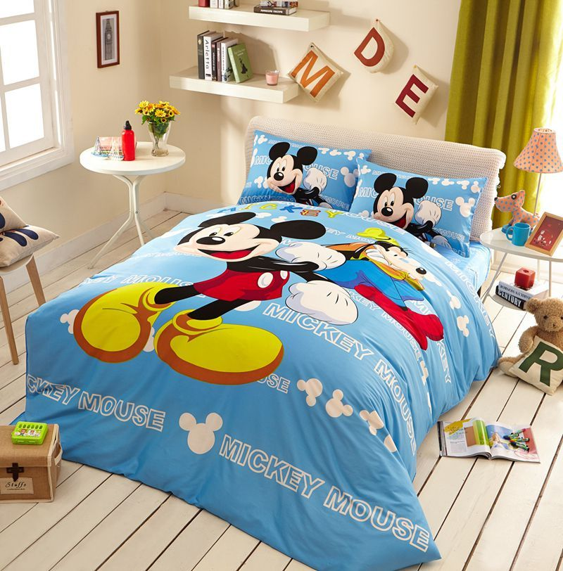 Awesome Mickey Mouse Light Blue Bedding Set Disney Bedding Sets
