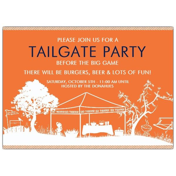 Tailgate Party Go Auburn Tigers Invitations PaperStyle Heres to