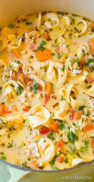 Creamy Chicken Tortellini Soup Recipe