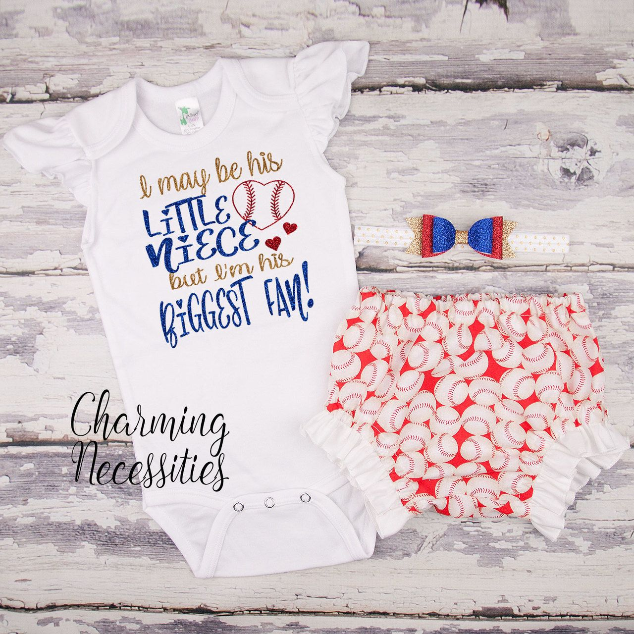 Baby Girl Baseball Niece Outfit, I May Be His Little Niece ...