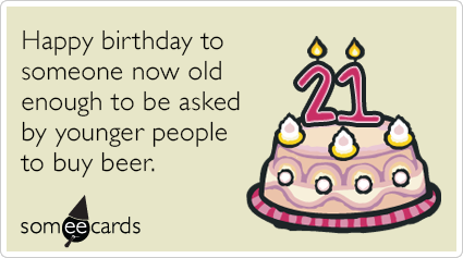 21st Birthday Ecards Pinterest – Funny 21st Birthday Card