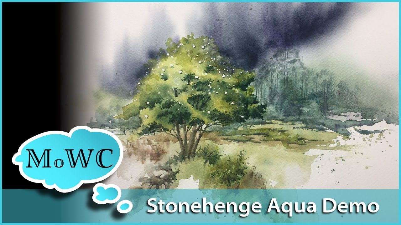 Stonehenge Aqua Watercolor Paper Review And Demo Watercolor