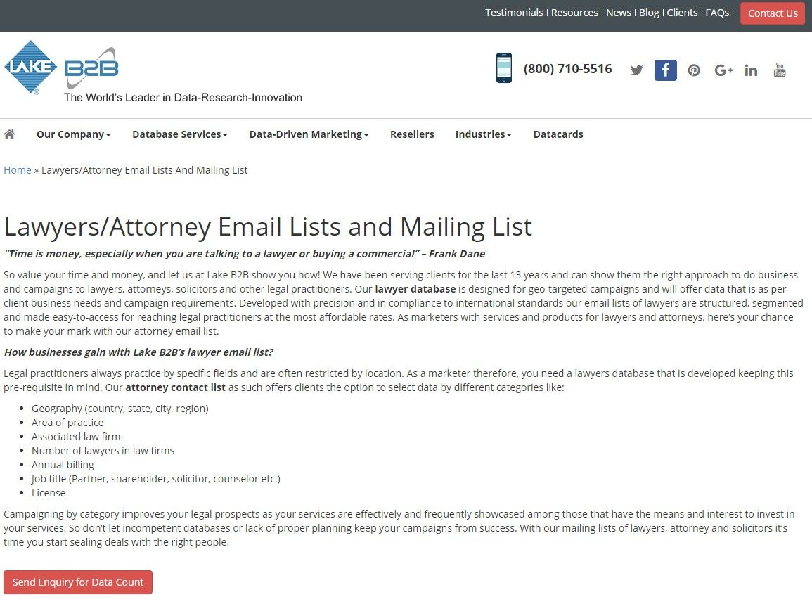 Lawyers Email List Mailing Contact Database List Of Law Firms