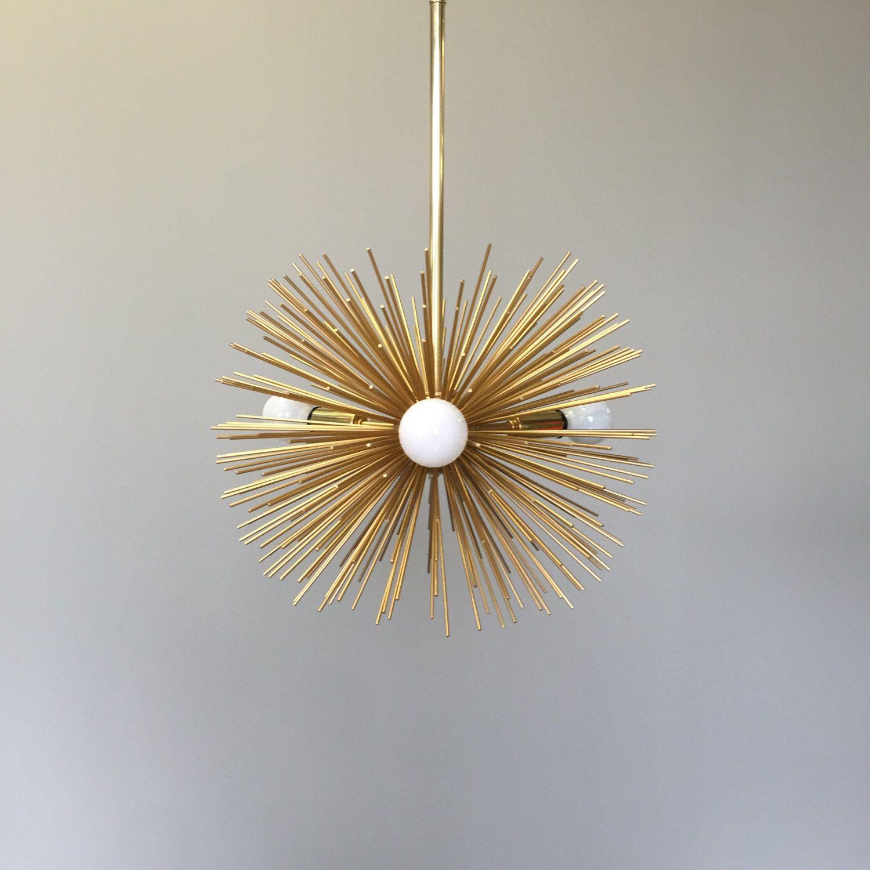 3-Bulb Urchin Pendant Chandelier   Lighting   Midcentury Modern ...