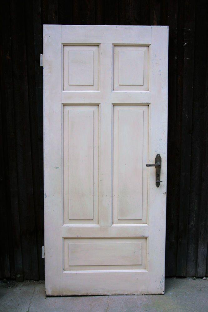 Alte Tür mit traumhaft schönen Türbeschlägen Jugendstil/ Art Deco ...