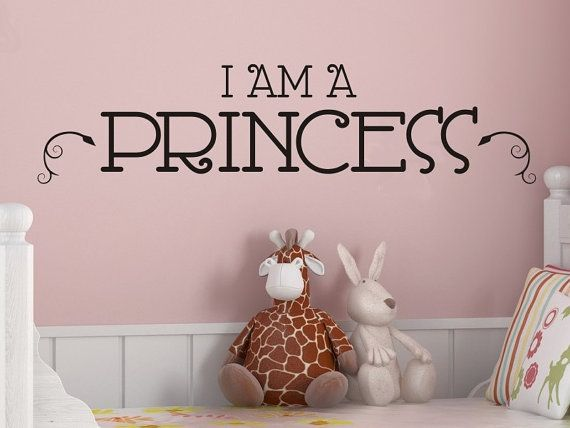 Princess Wall Art I Am A Princess Girls Bedroom Wall Decal