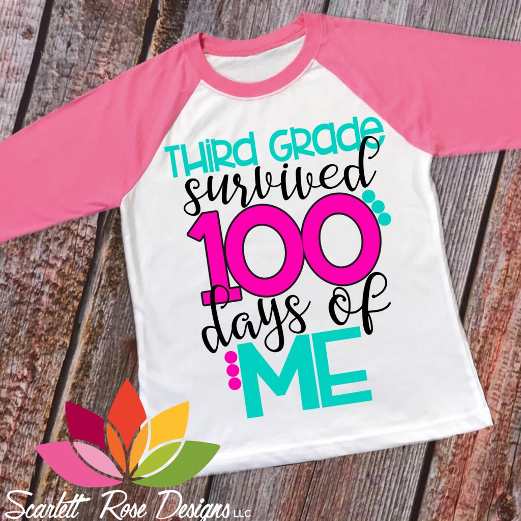 Third Grade Survived 100 Days Of Me Svg