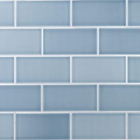 Vector Azul 4x8 Polished Ceramic Tile in 2018 bathrooms
