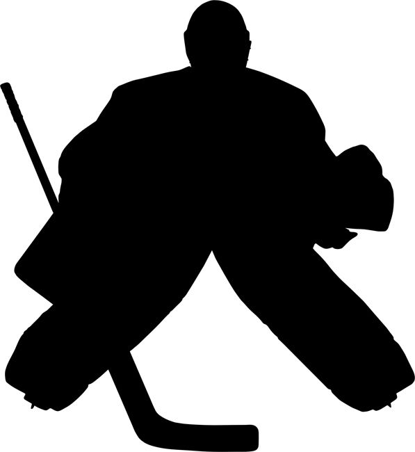 Quickly And Easily Create A Sport Inspired Design Anywhere You Desire With Our Goalkeeper Hockey Painting Stencil Hockey Crafts Hockey Silhouette Stencil