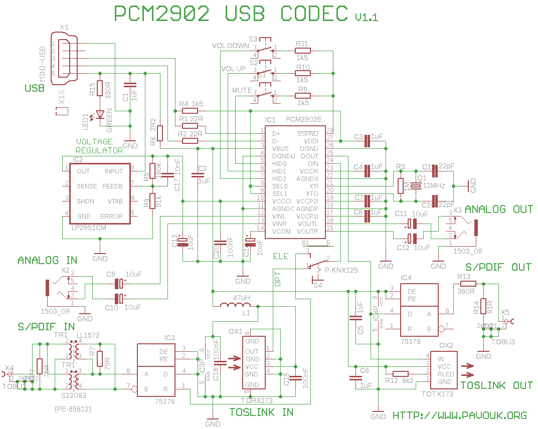 Usb Sound Card With Pcm2902 Electronics In 2018 Pinterest Diy Touch Dimmer For Lamps Electronic Circuits And Diagramelectronics Engineering Electrical Projects