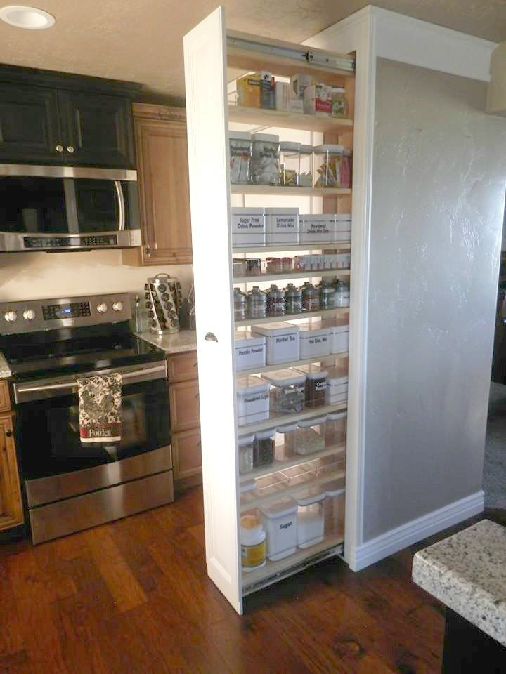 The 15 Most Brilliant Ideas People Came Up With In 2015 Pull Out Pantry Pantry Cabinet Kitchen Renovation