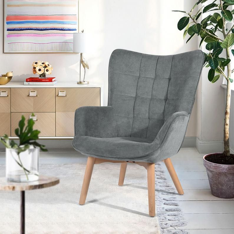 Relax Chair Accent Occasional Upholstered Leisure Fabric Velvet Armchair High Back Arm Rest Occasional Chairs For Living Room Bedroom Lounge In 2020 Living Room Chairs Relaxing Chair Occasional Chairs #relaxing #chair #for #living #room