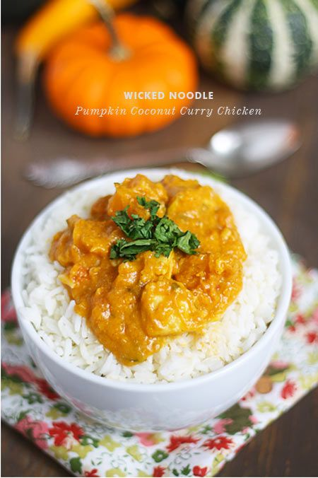 Pumpkin Coconut Curry Chicken plus several other Pumpkin Recipes from Foodie Crush