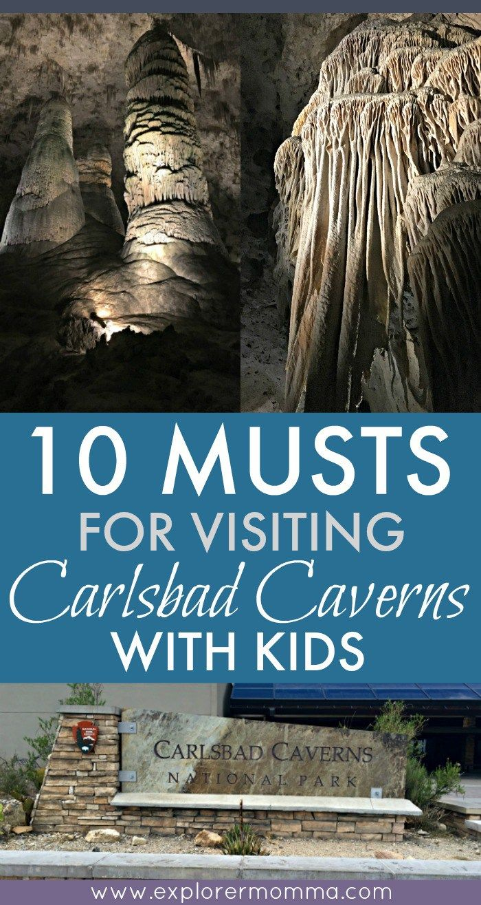 Do you enjoy trips to natural wonders as a family? Visit Carlsbad Caverns with kids and remember the 10 MUSTS that can make or break the trip. #carlsbadcavernswithkids