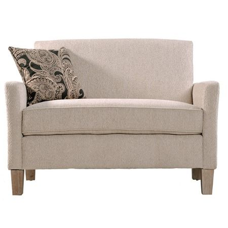 I pinned this Sutton Loveseat in White from the angelo:HOME event at Joss and Main!  For my dream bedroom.