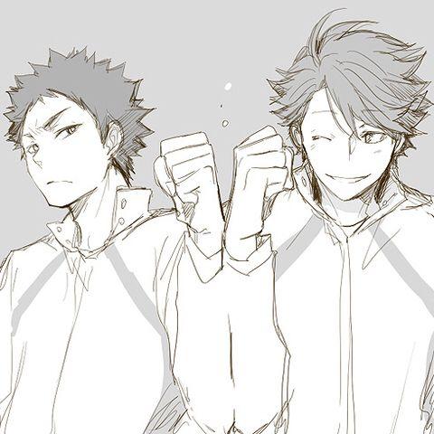 Haikyuu Iwaizumi and Oikawa