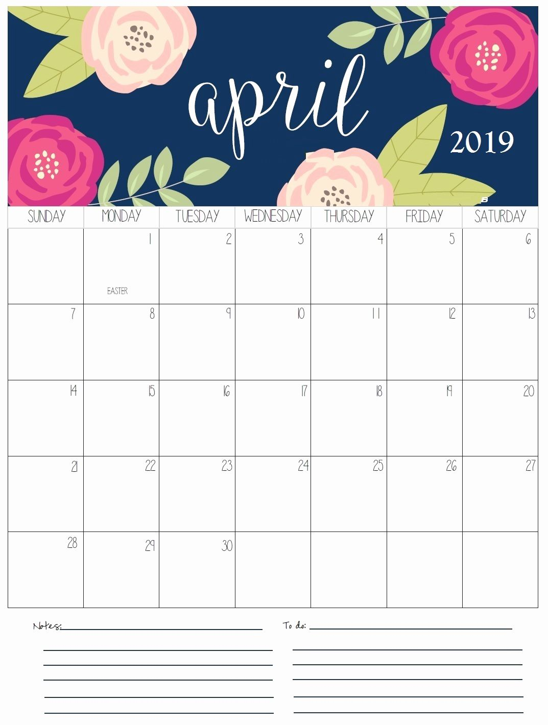April 2019 Calendar With Week Numbers Monthly Calendar Template