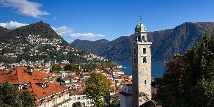 Monte Bre and Lugano Lake, Switzerland