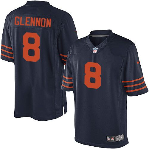 70c6104a460 Youth Nike Chicago Bears #8 Mike Glennon Elite Navy Blue 1940s Throwback  Alternate NFL Jersey