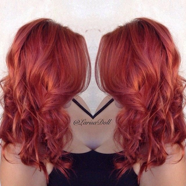 No Filter Deep Copper Red Her Color Has So Much Dimension From