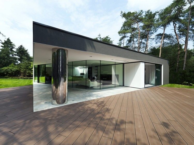 V randa moderne de style minimaliste e rev tement de sol for Maison style minimaliste