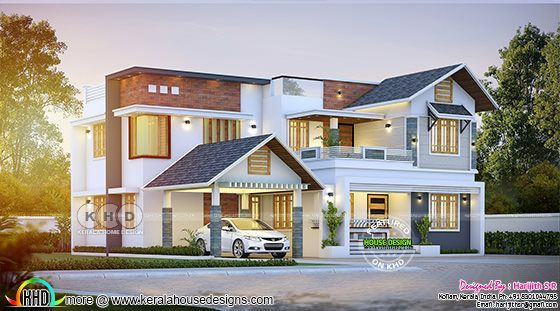 2000 Sq Ft 4 Bedroom Residence at Kottarakkara