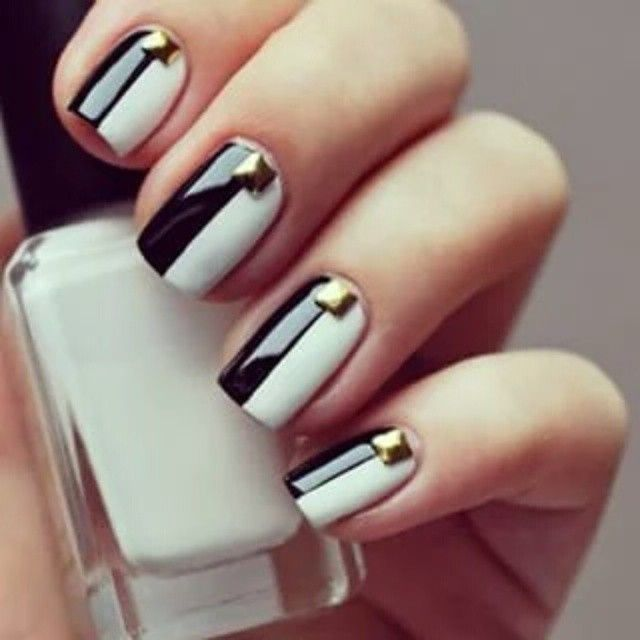 Pin By Jilly Beans On Nail Looks Pinterest Black Nails And Hair