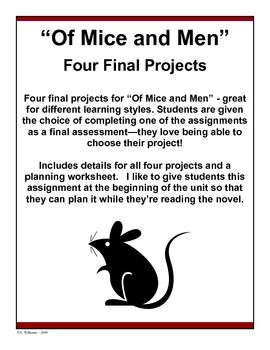 of mice and men projects teaching resources pinterest mice rh pinterest com