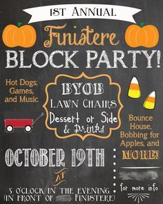 Halloween block party flyer template google search for Block party template flyers free