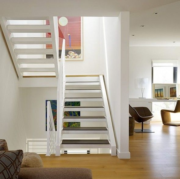 Modern And Elegant Stairs Design Of Space-Age Chic By Gary