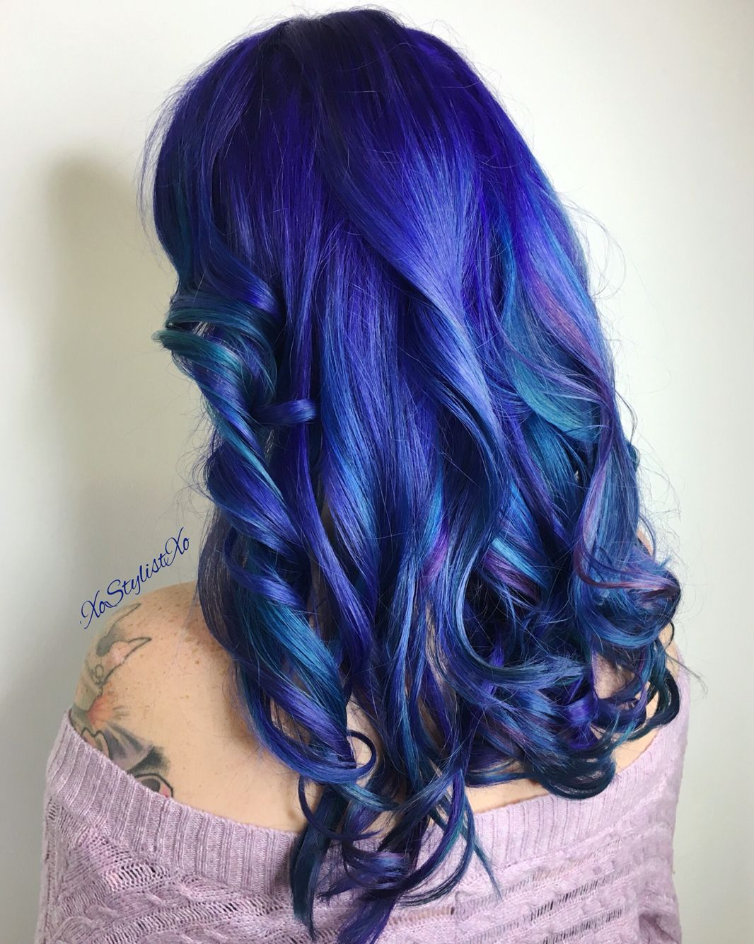 Winter blues hair trendue gorgeous msi hair nails u beauty