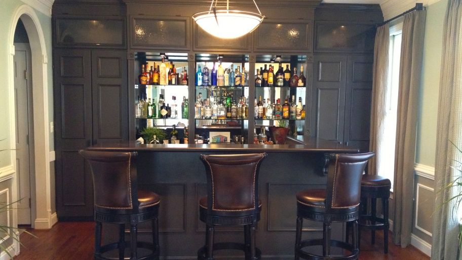 Homeowners Find Unique Design Solutions Living Room Bar Home
