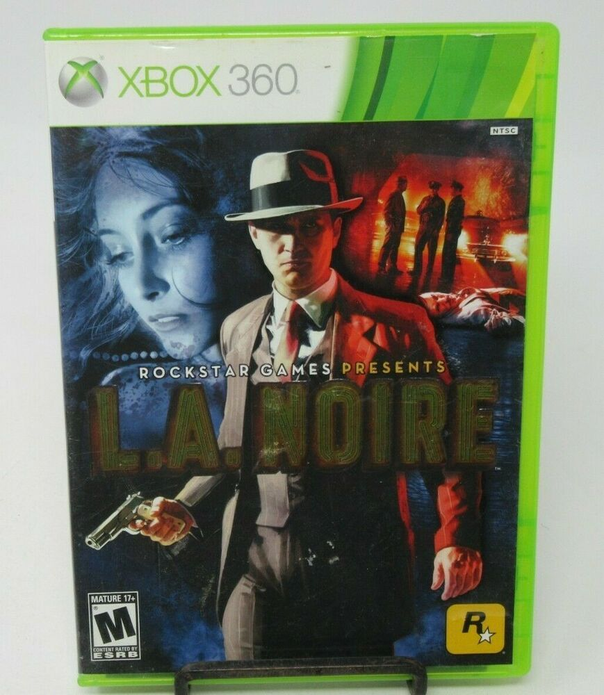L A Noire 3 Disc Game For Microsoft Xbox 360 Case Game Discs