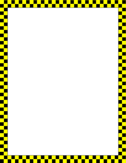 Yellow and Black Checkered Border