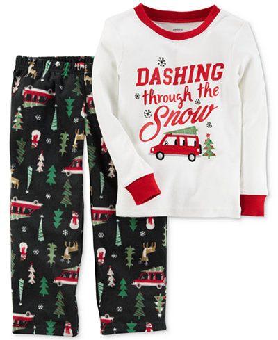 1bd15eae19d9 Carter s 2-Pc. Dashing Through The Snow Pajama Set