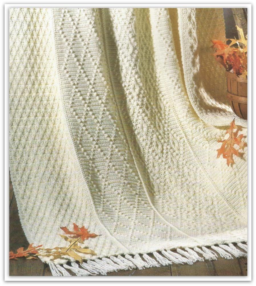 Crochet Afghan Pattern - Irish Fisherman - Pattern No. IF587102 by ...