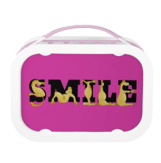 Flexible ponies | smile | customizable pink, girls lunch box by ponyalphabet