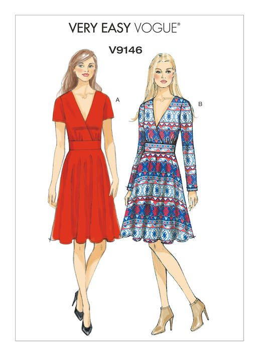 V9146 | Vogue Patterns | Dress Patterns | Pinterest | Vogue patterns ...
