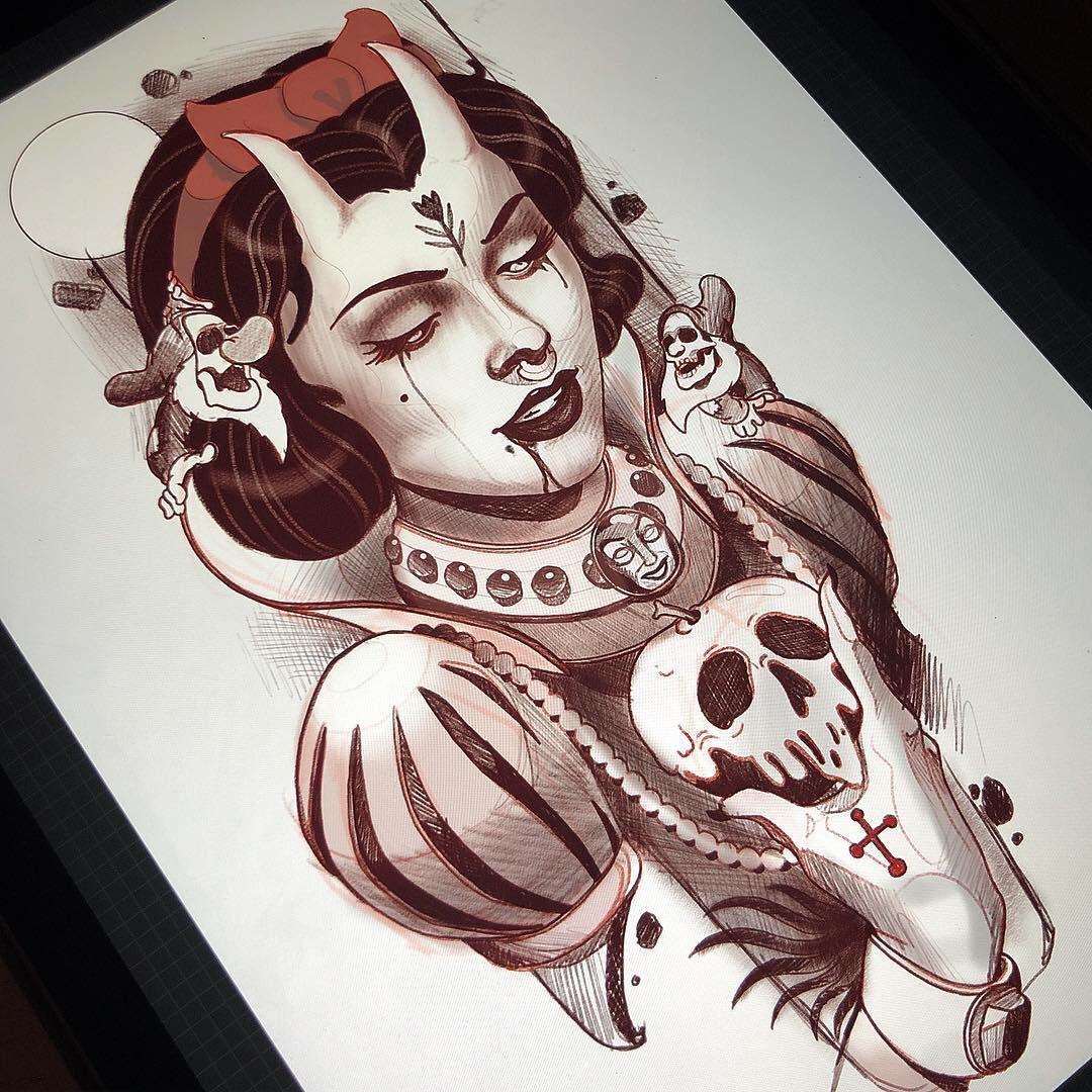 Bocetos De Tatuajes Tradicionales pin de niño calavera en horror | tatuajes tradicionales