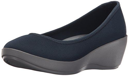 crocs Womens Busy Day Stretch Ballet Wedge Flat NavySmoke 8 M US *** Check out the image by visiting the link. Note:It is Affiliate Link to Amazon.