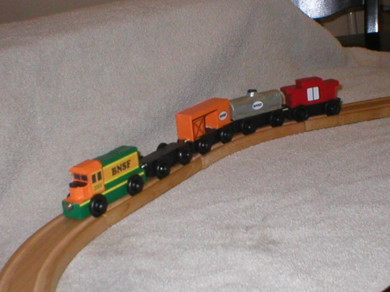 pinneil birkebak on wooden trains | wooden toy train