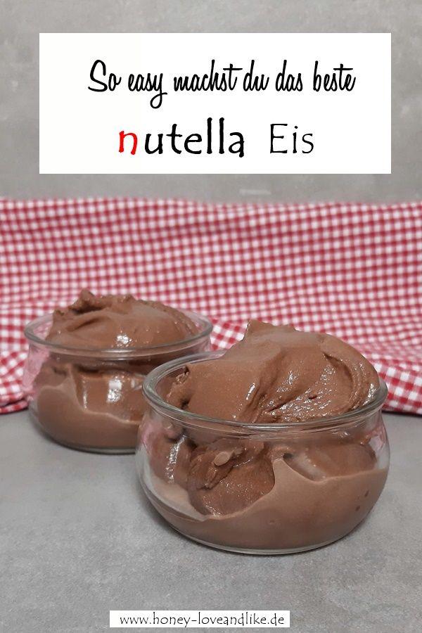 Nutella Eis selber machen