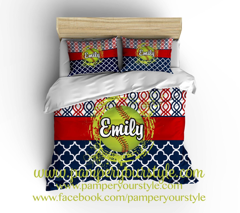 Personalized Bedroom Decor Softball Bedroom Softball Personalized Bedding Design My Own