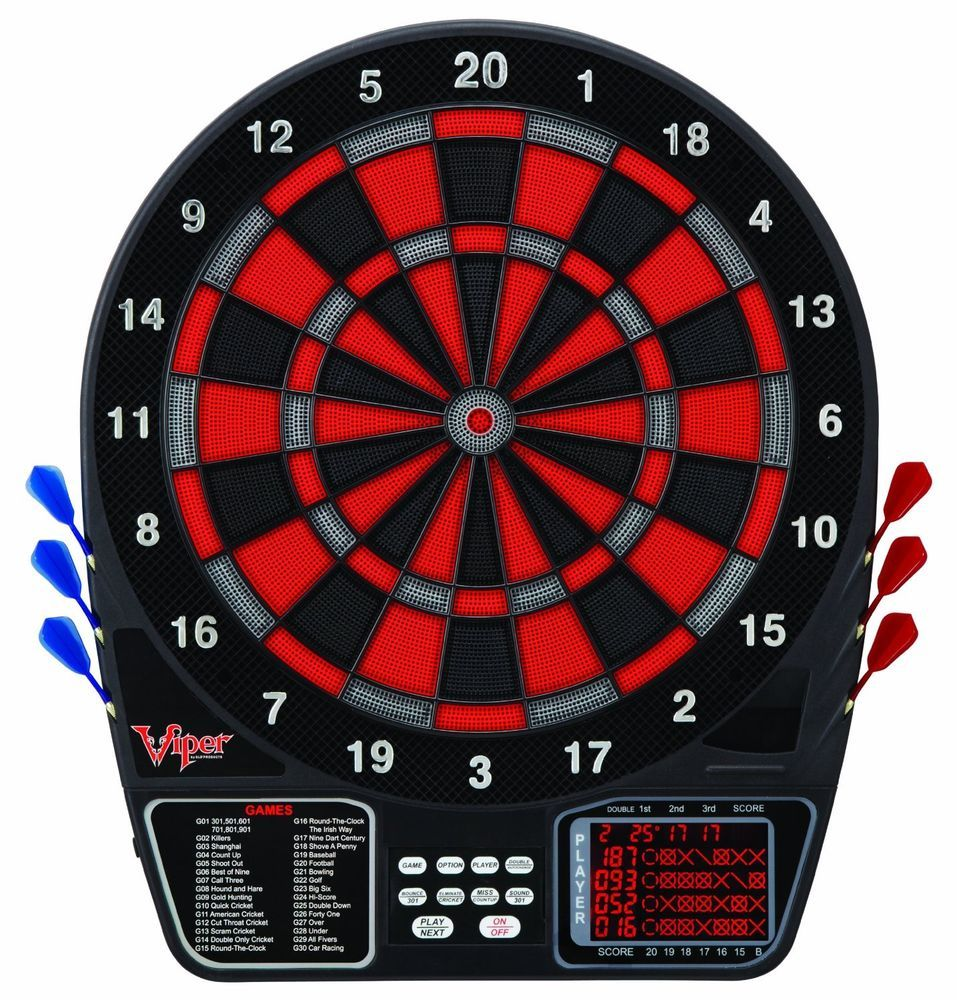Viper Electronic Dartboard Games Illuminated Soft Tip Darts Fun Players Digital