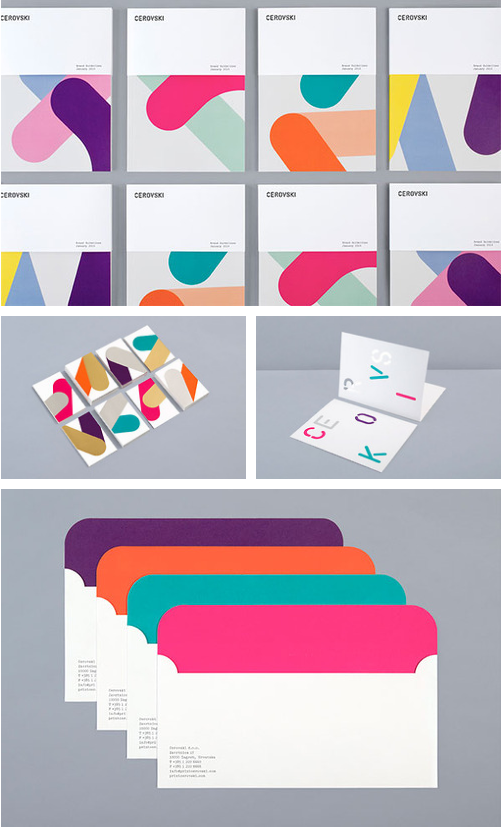 Clean and colorful brand identity for Cerovski, a print production studio.