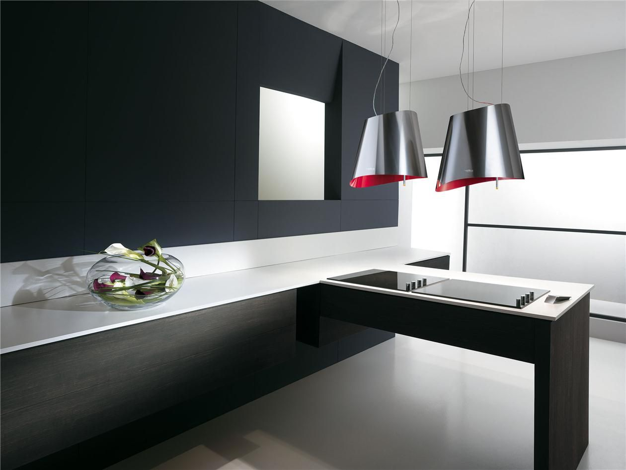 hotte cuisine elica suspendue inox rouge. | cuisine | pinterest