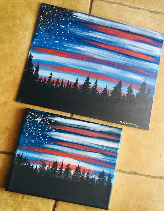 How To Paint American Flag Sky Step By Painting